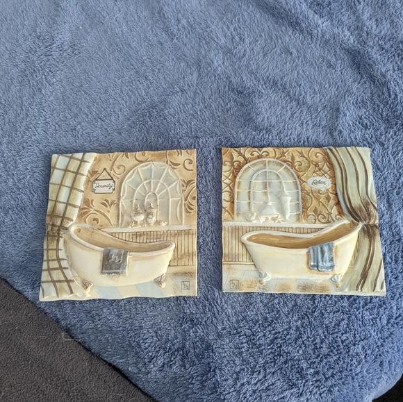 Bathroom plaques